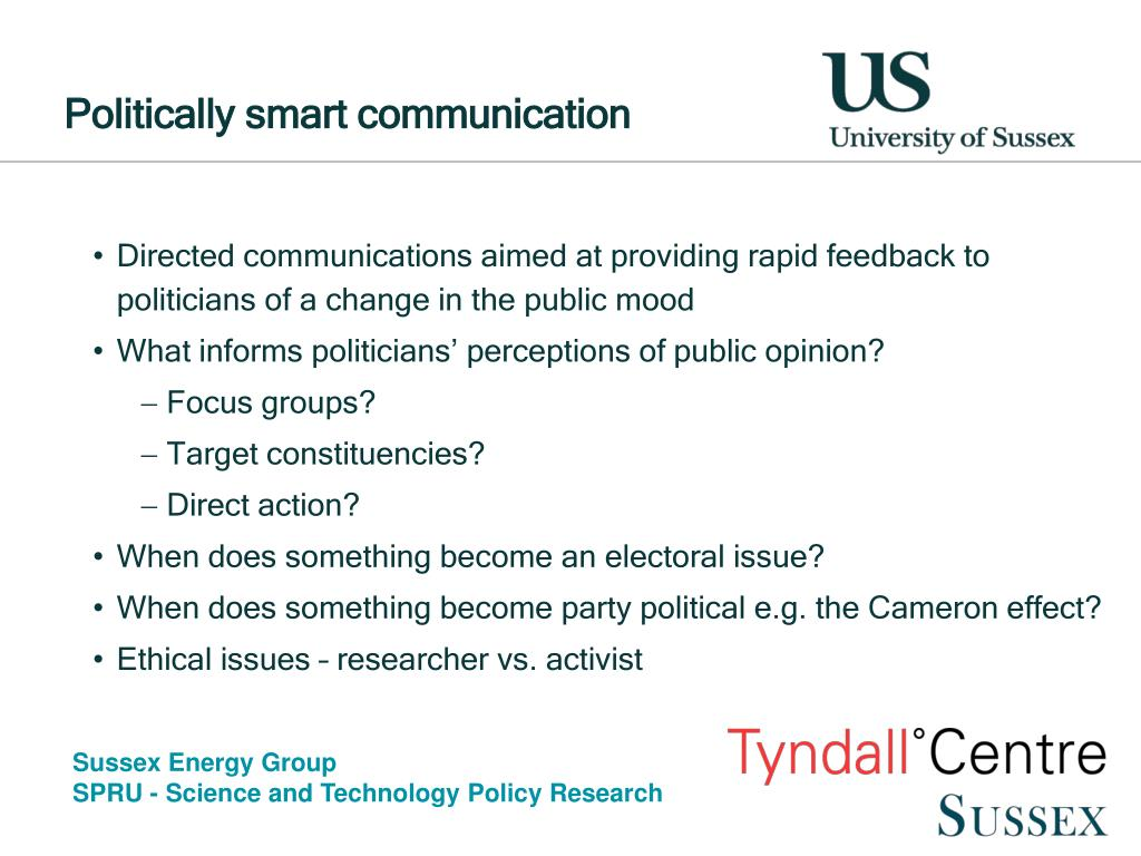 Politically smart communication
