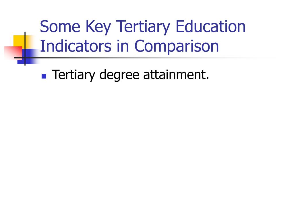 Some Key Tertiary Education Indicators in Comparison