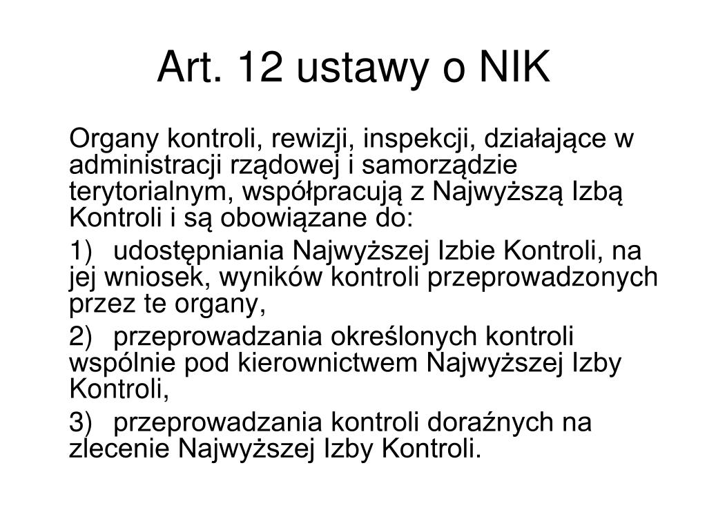 Art. 12 ustawy o NIK