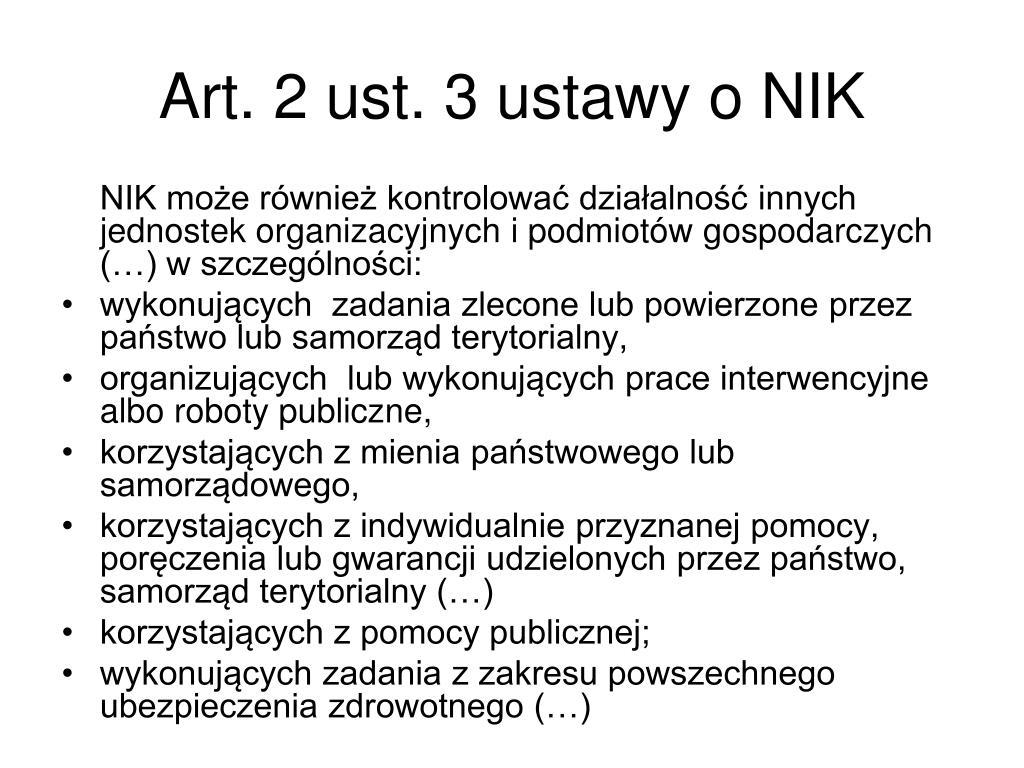 Art. 2 ust. 3 ustawy o NIK