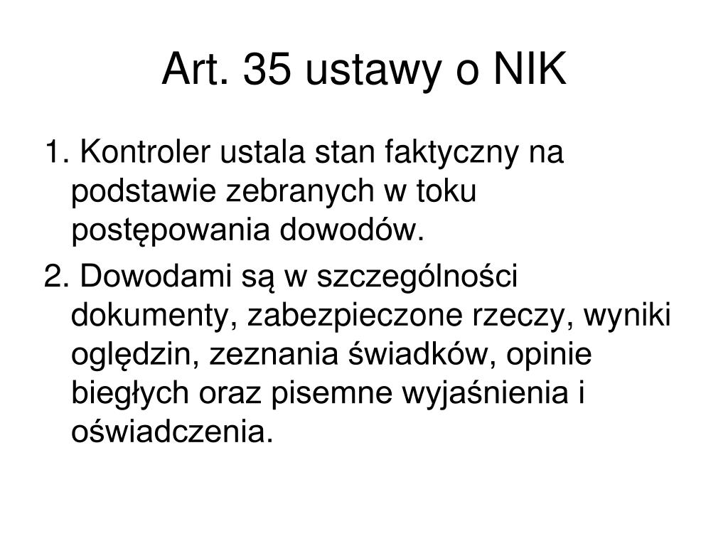 Art. 35 ustawy o NIK