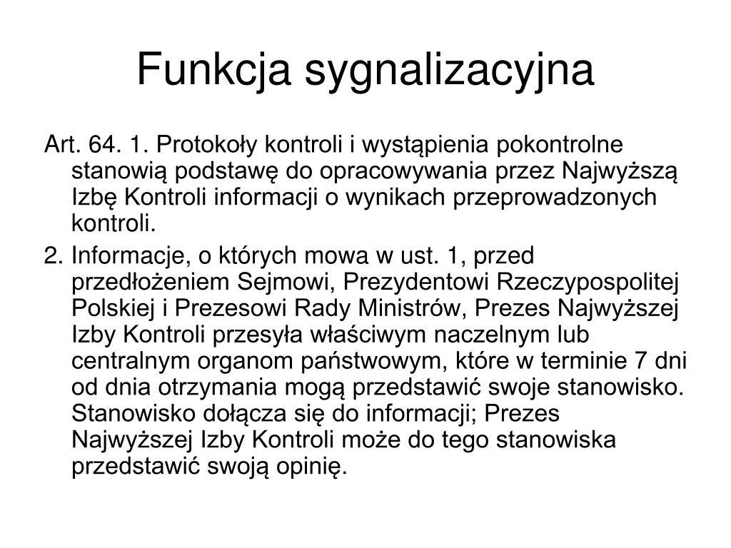 Funkcja sygnalizacyjna