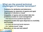 what are the grand technical challenges in counter terrorism