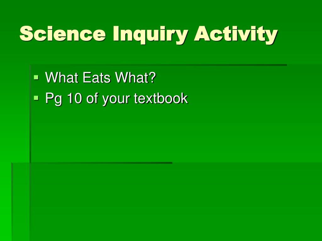 Science Inquiry Activity