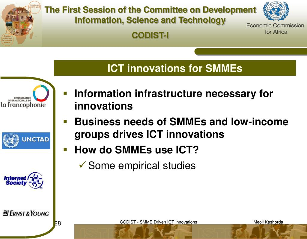 ICT innovations for SMMEs