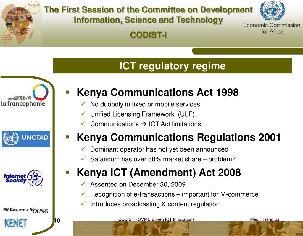 ICT regulatory regime