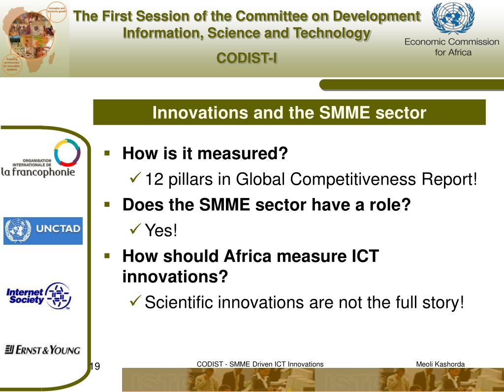Innovations and the SMME sector