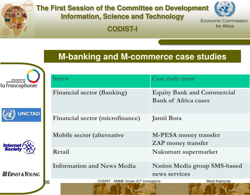 M-banking and M-commerce case studies