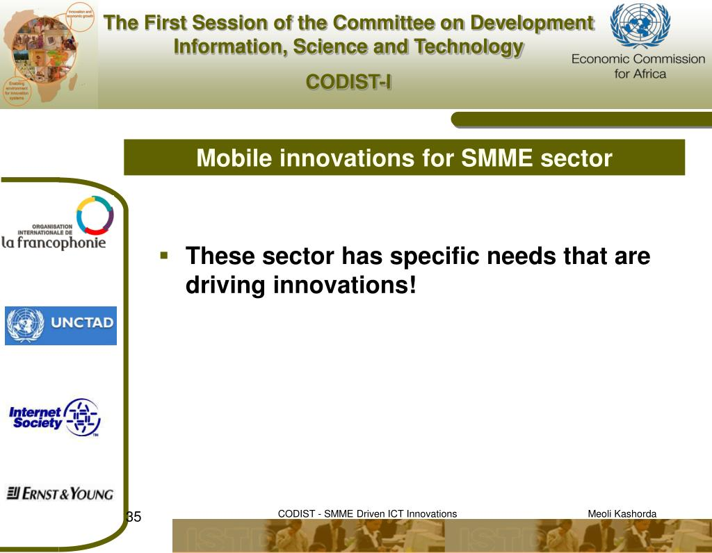 Mobile innovations for SMME sector
