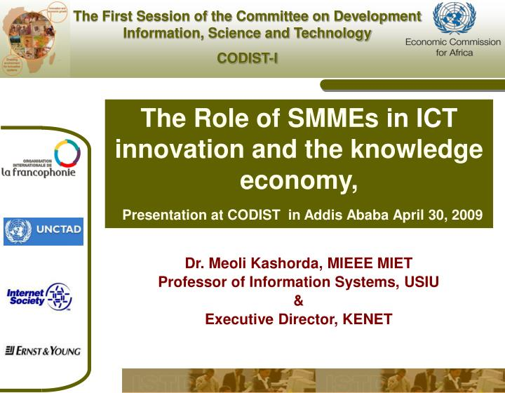 The Role of SMMEs