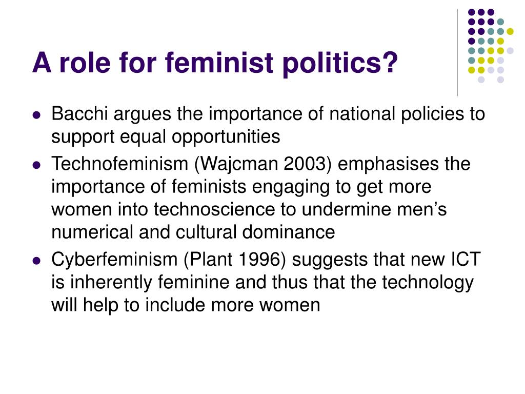 A role for feminist politics?