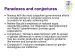 paradoxes and conjectures