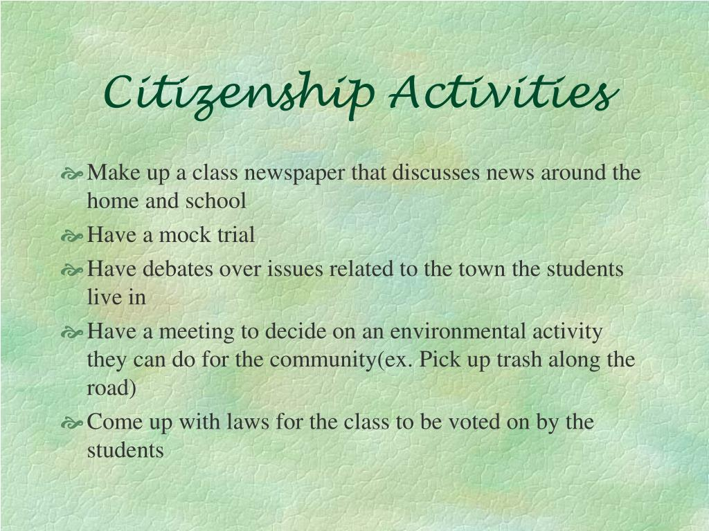 Citizenship Activities