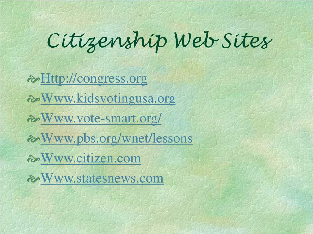 Citizenship Web Sites