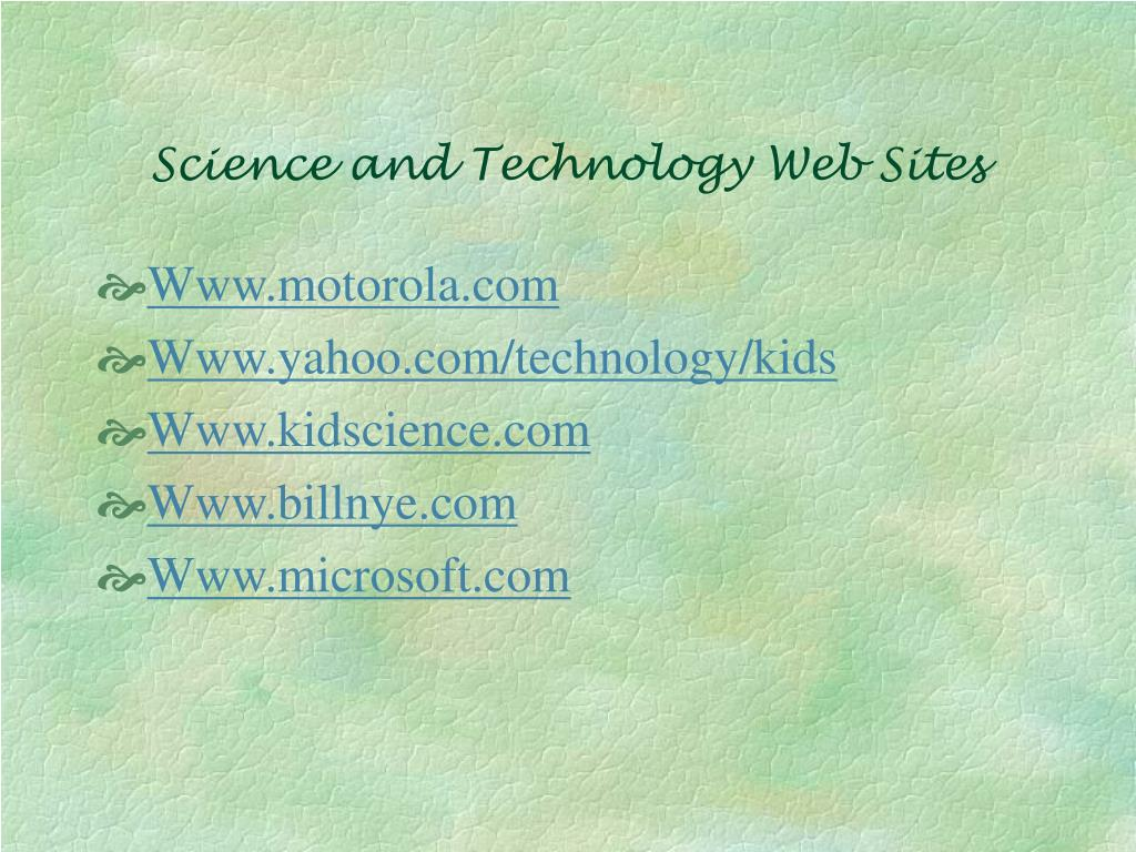 Science and Technology Web Sites