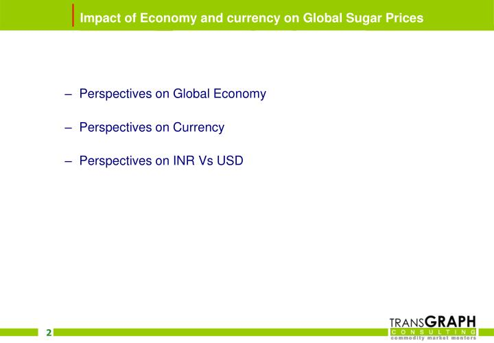 Impact of economy and currency on global sugar prices