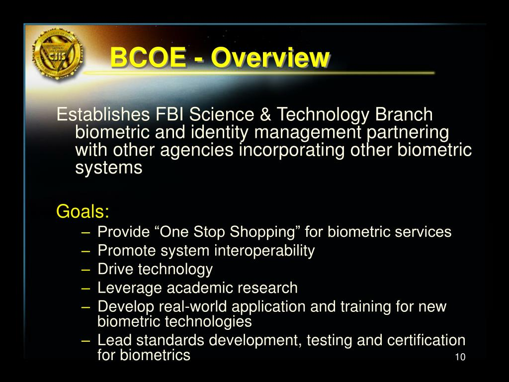 BCOE - Overview