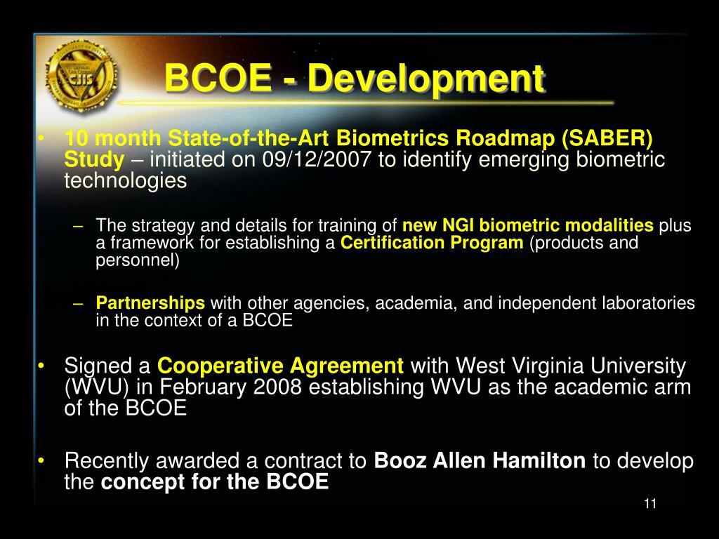 BCOE - Development