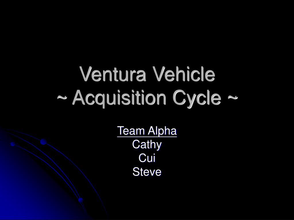 Ventura Vehicle