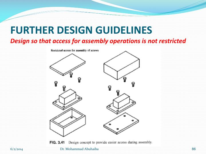 FURTHER DESIGN GUIDELINES