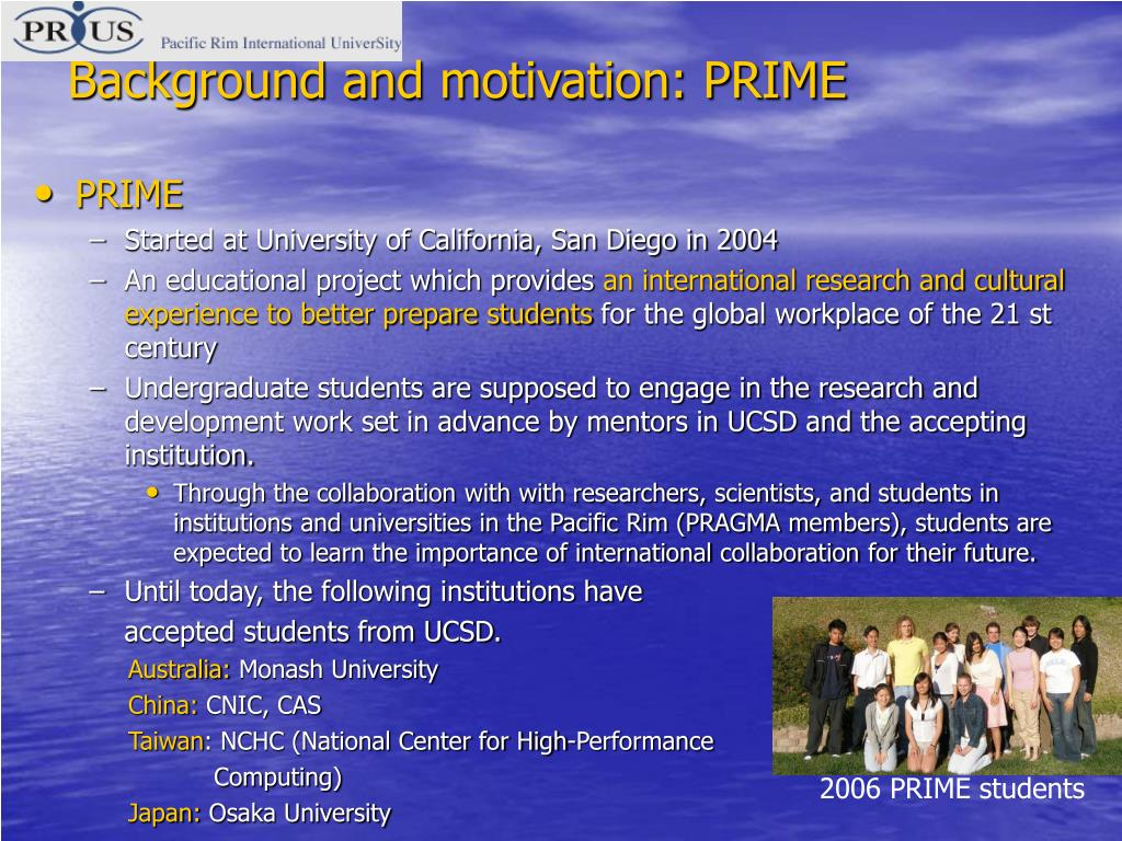 Background and motivation: PRIME