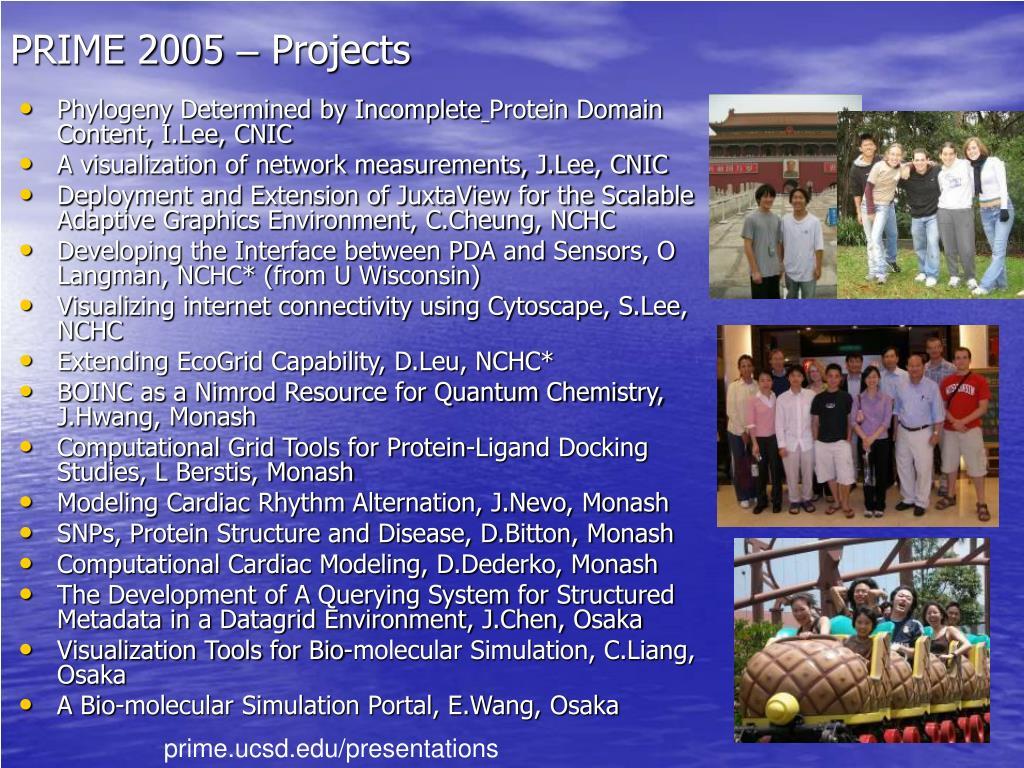 PRIME 2005