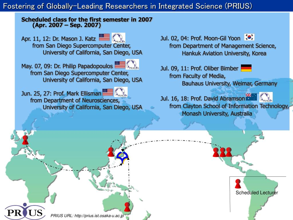 Fostering of Globally-Leading Researchers in Integrated Science (PRIUS)