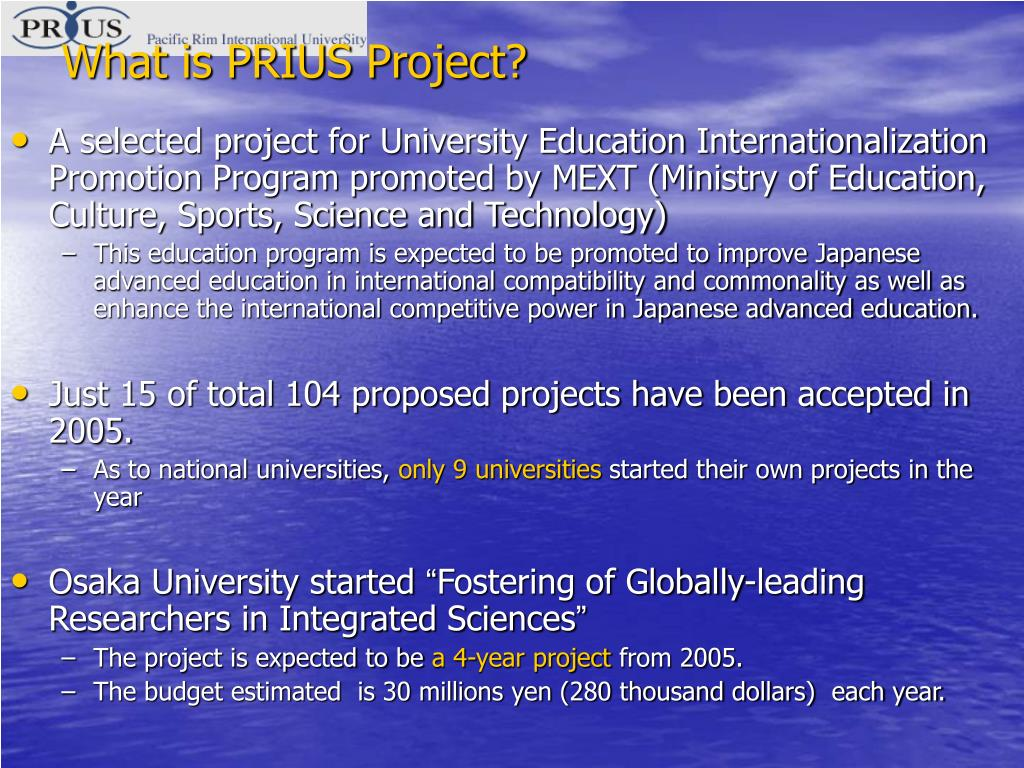 What is PRIUS Project?