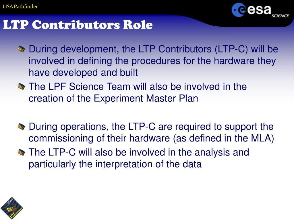 LTP Contributors Role