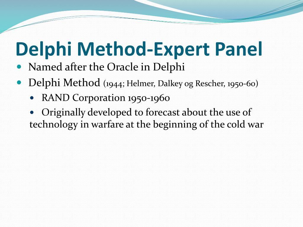 Delphi Method-Expert Panel
