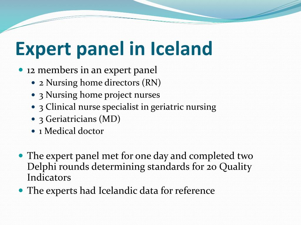 Expert panel in Iceland