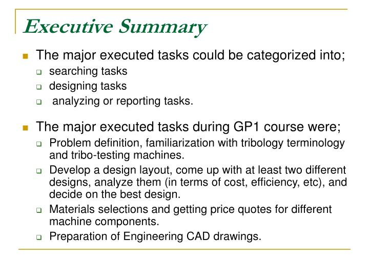 Executive summary3