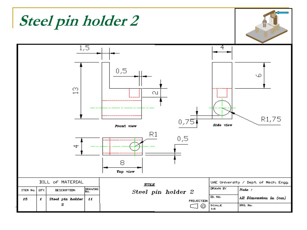 Steel pin holder 2