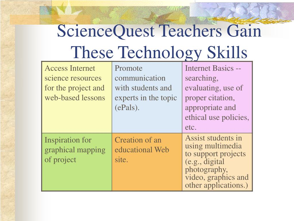 ScienceQuest Teachers Gain These Technology Skills