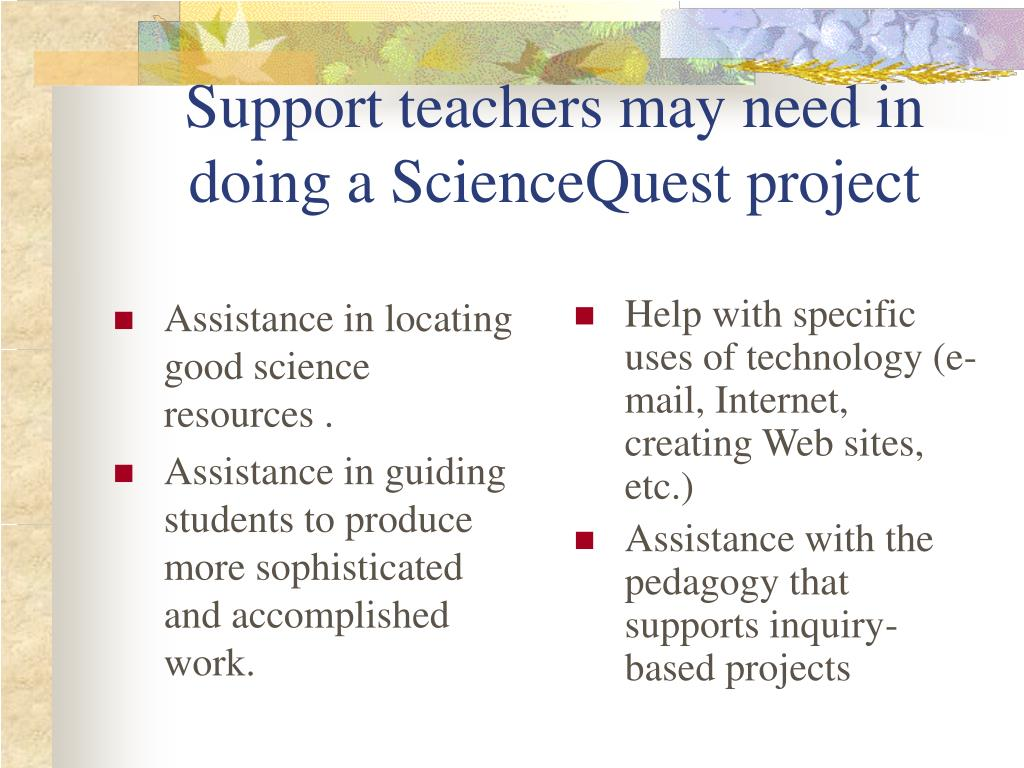 Assistance in locating good science resources .