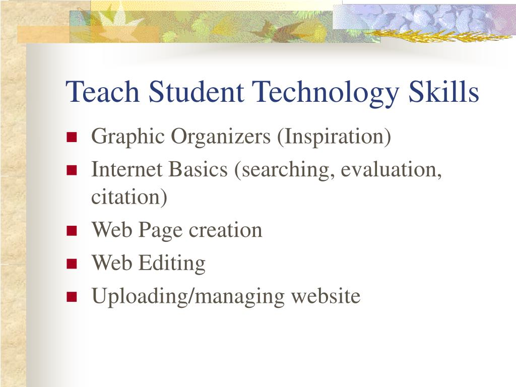 Teach Student Technology Skills