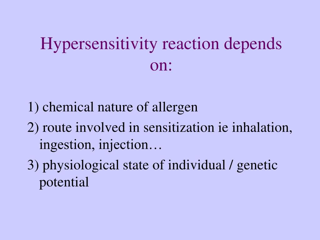 Hypersensitivity reaction depends on: