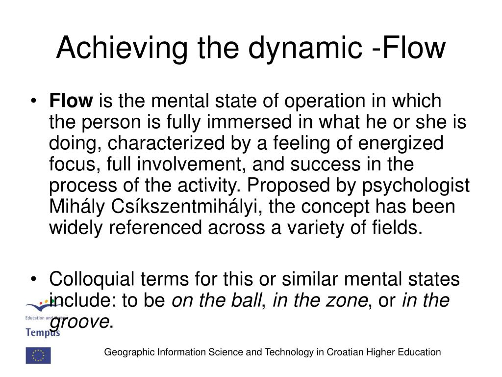 Achieving the dynamic -Flow