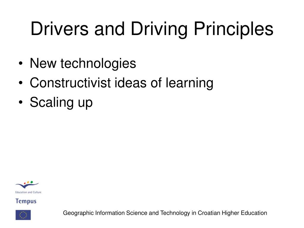 Drivers and Driving Principles
