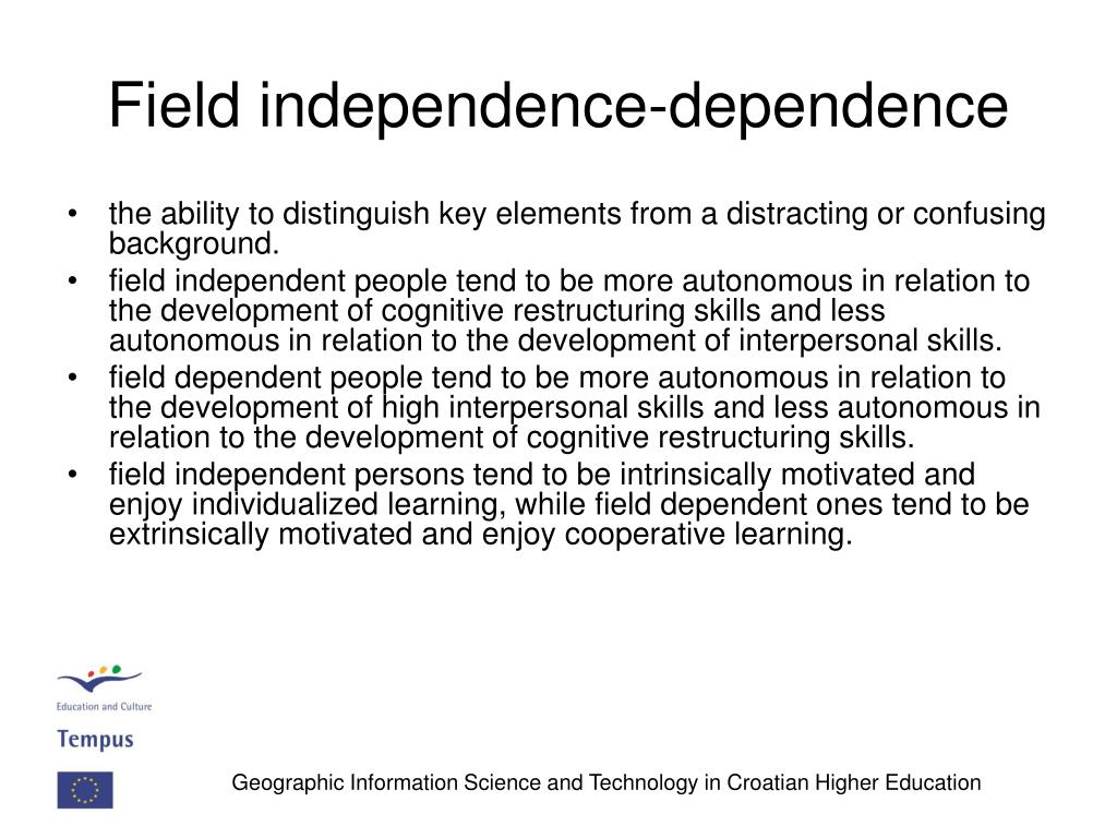 Field independence-dependence
