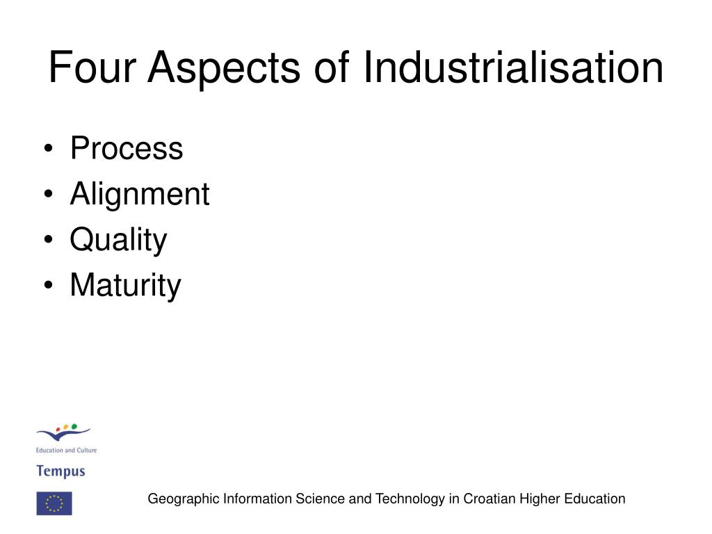 Four Aspects of Industrialisation