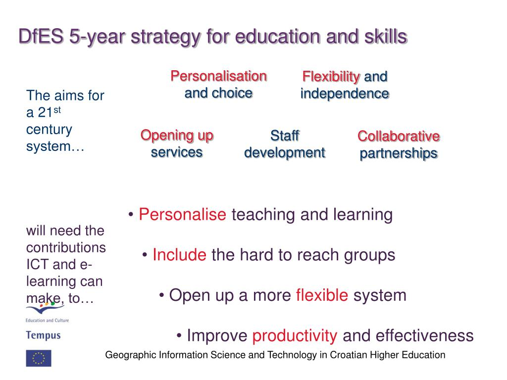 DfES 5-year strategy for education and skills