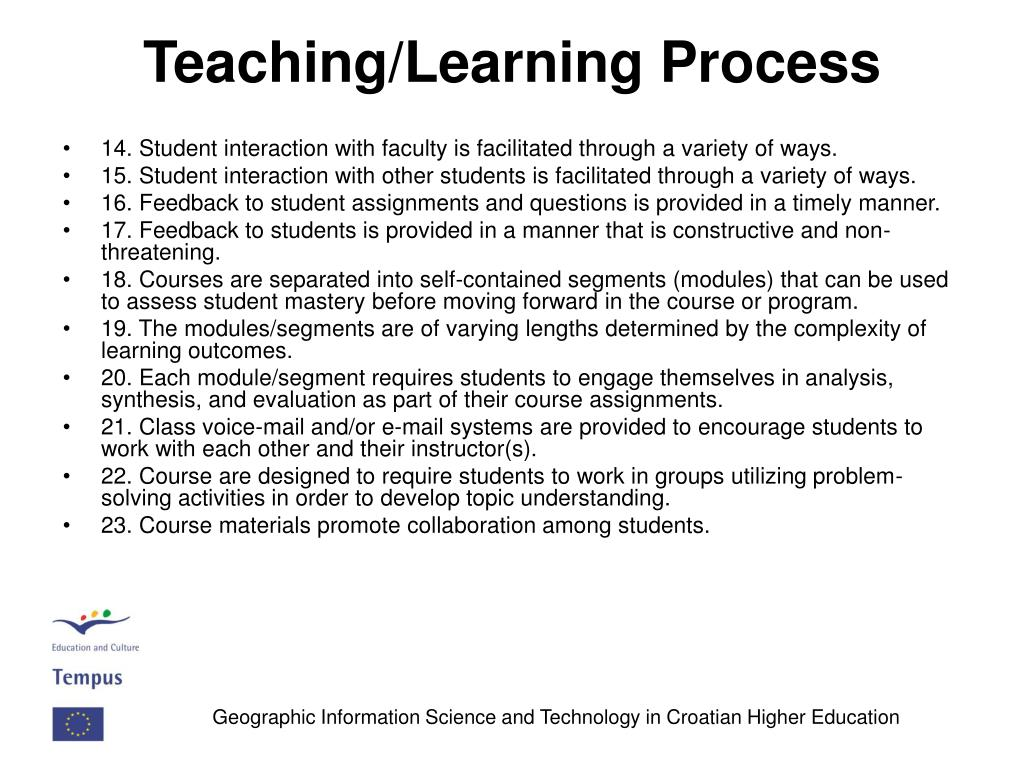 Teaching/Learning Process