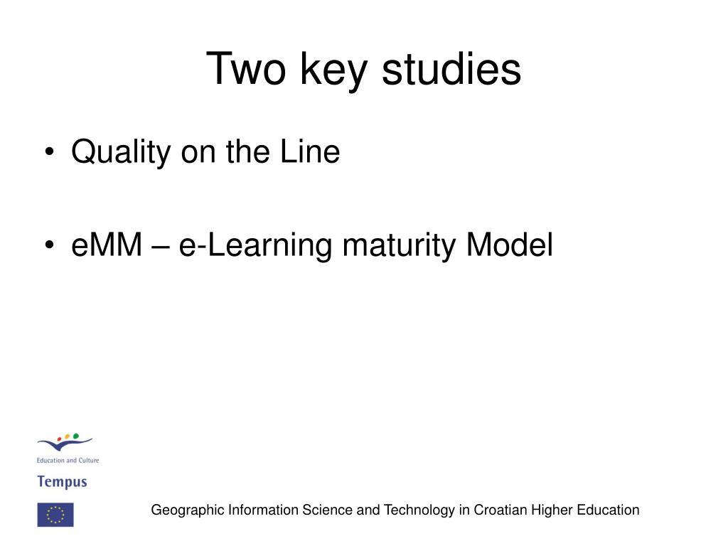 Two key studies