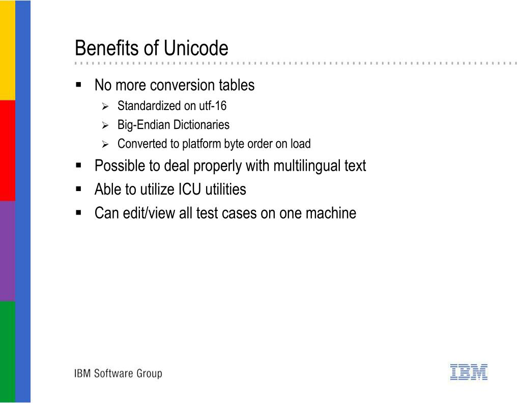 Benefits of Unicode