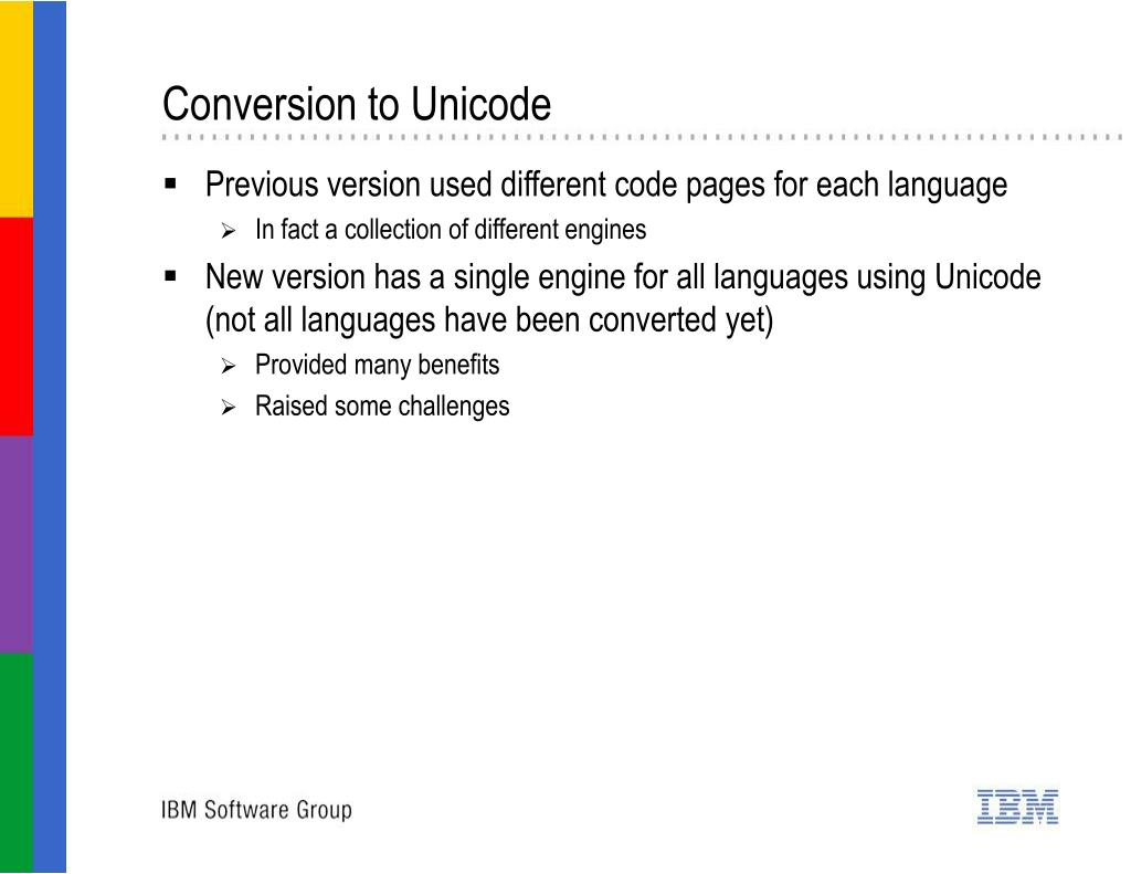Conversion to Unicode