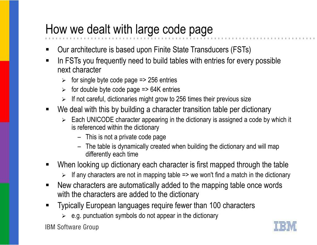 How we dealt with large code page