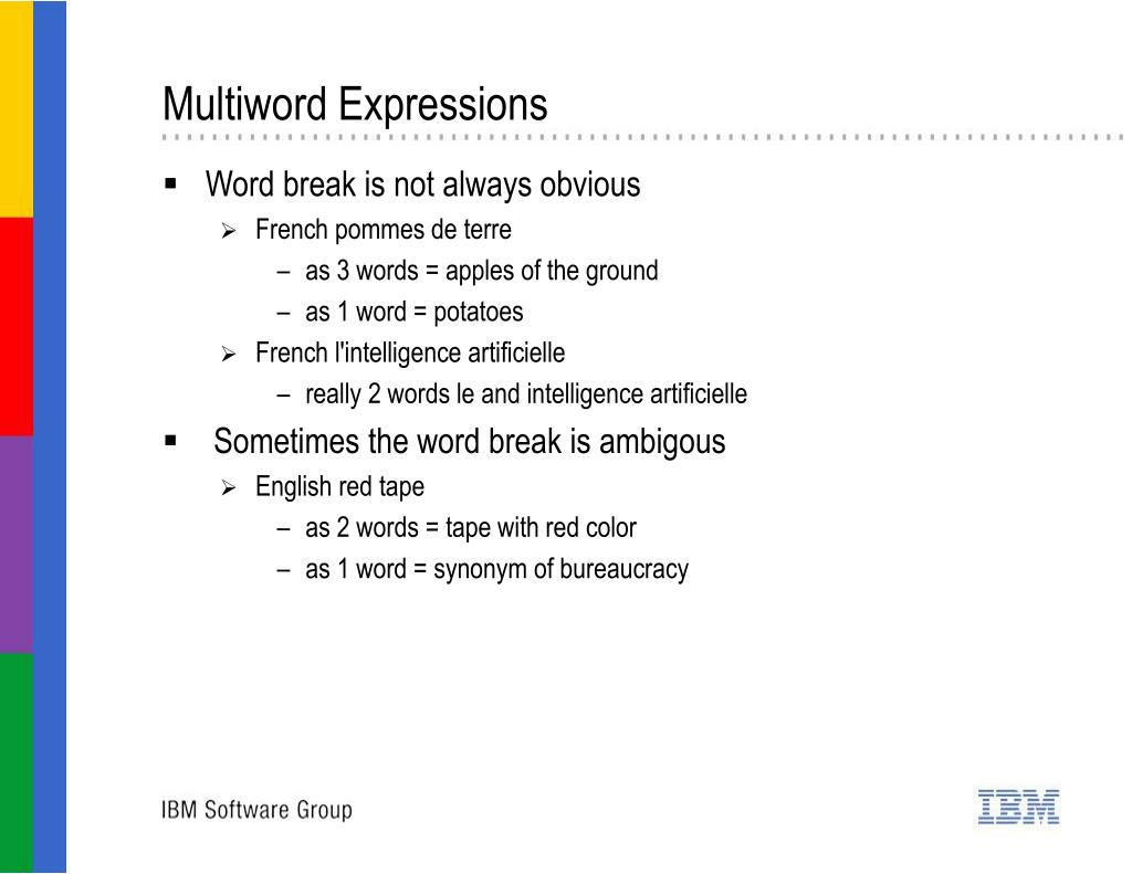Multiword Expressions
