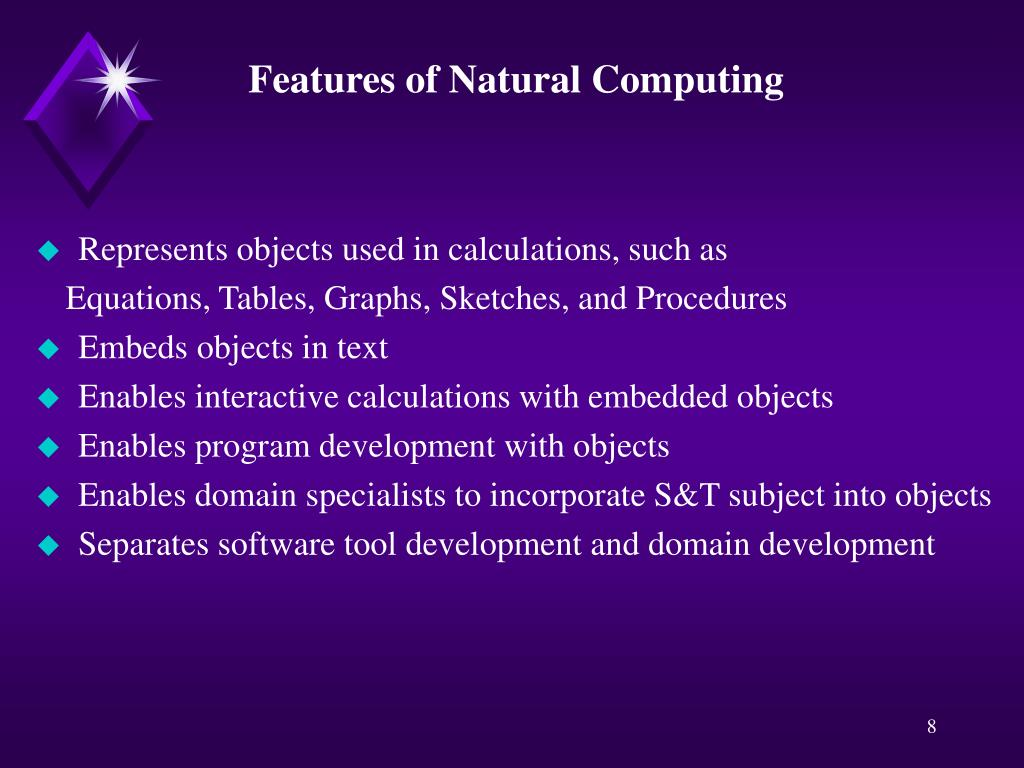 Features of Natural Computing