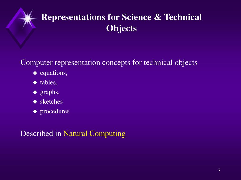 Representations for Science & Technical Objects